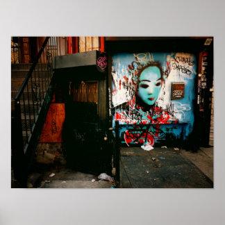 Urban Fragments - Street Art - New York City Poster
