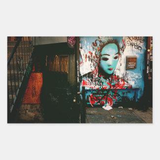 Urban Fragments - Street Art - New York City Rectangular Sticker