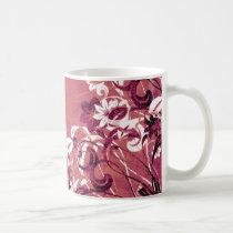 flower, flowers, floral, flora, garden, nature, grunge, urban, gift, gifts, art, design, red, pink, mug, mugs, Mug with custom graphic design