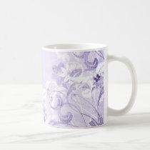 flower, flowers, floral, flora, flourish, pattern, design, art, garden, nature, graphic, urban, grunge, distressed, gift, gifts, purple, pastel, lavender, lavendar, mug, mugs, Mug with custom graphic design