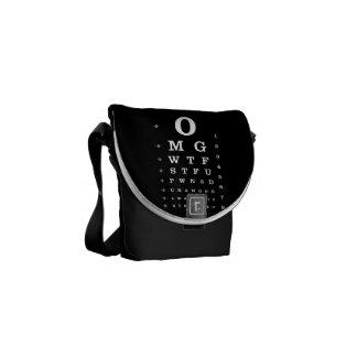 Urban Geek Dictionary Eye Chart Funny Bag