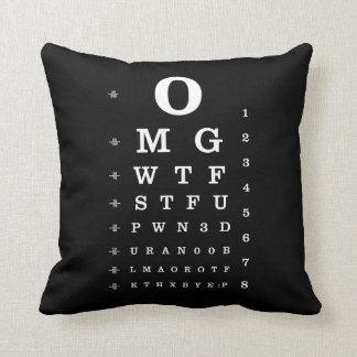 Urban Geek Dictionary Eye Chart Pillow