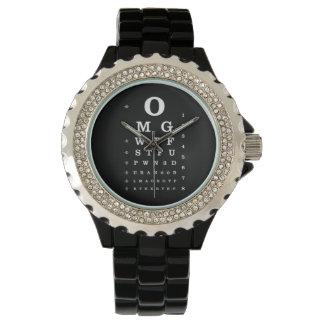 Urban Geek Dictionary Eye Chart Watch