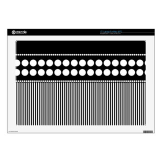Urban Geometry Black and White Skins For Laptops