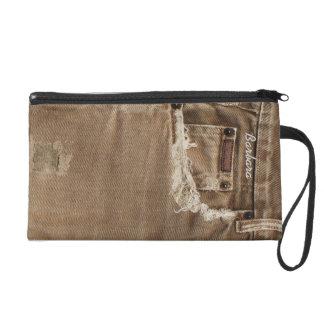 Urban Girl  Denim Jeans Bagette Bag Wristlet Clutches