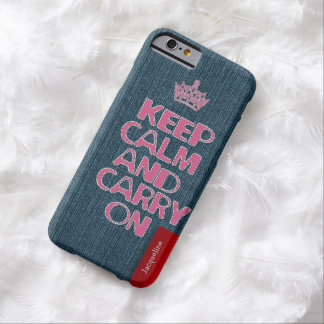 Urban Girly Jeans Stitch Keep Calm Barely There iPhone 6 Case
