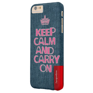 Urban Girly Jeans Stitch Keep Calm Barely There iPhone 6 Plus Case