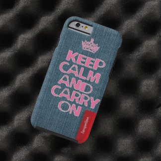 Urban Girly Jeans Stitch Keep Calm Tough iPhone 6 Case