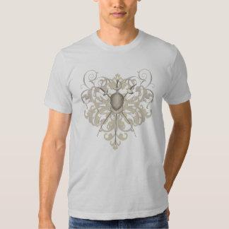 Urban Gold Swords Fencing Mask Mens T-Shirt