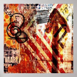 urban graffiti decay poster