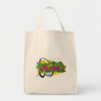 urban graffiti design canvas bag