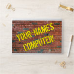 [ Thumbnail: Urban Graffiti Inspired Brick Wall + Custom Name ]