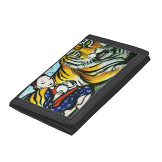 Urban graffiti street art tri-fold wallet
