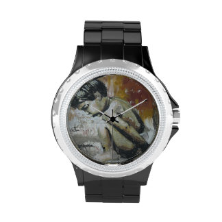 Urban graffiti street art wrist watch