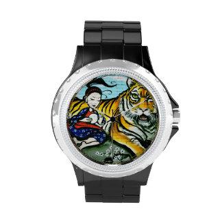 Urban graffiti street art wrist watches