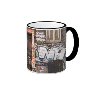 Urban graffitis ringer mug