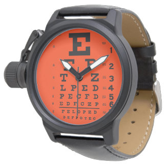 Urban Graphic Eye Chart (Custom Color Background) Wrist Watch