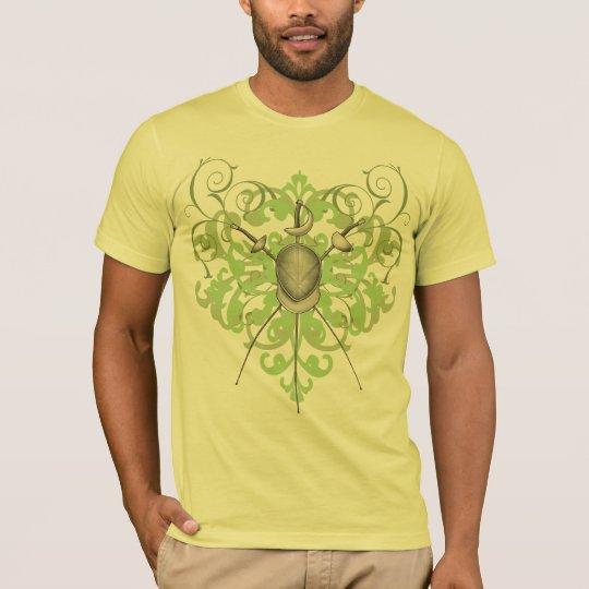 Urban Green Swords Fencing Mask Mens T-Shirt
