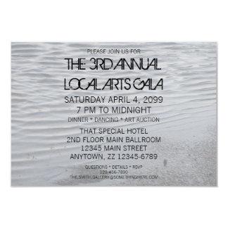Urban Grey Asphalt Puddle Art Special Event Invite