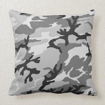Urban Grey Camo Pillow