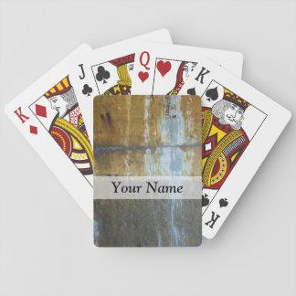Urban grunge abstract pattern card decks