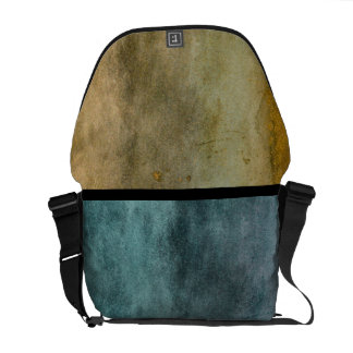 Urban Grunge Blue and Brown Courier Bag