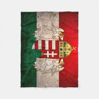 Urban Grunge Hungary Flag Fleece Blanket
