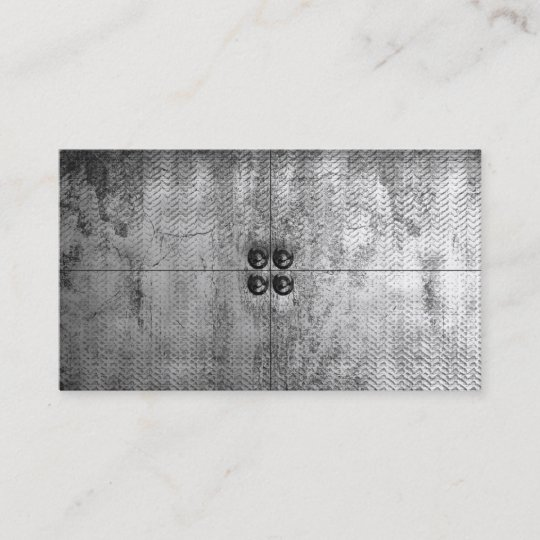 Urban Grunge Metal Look Business Cards Zazzle
