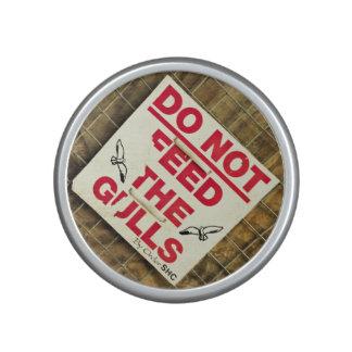 urban grunge red and white warning sign bluetooth speaker