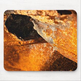 urban grunge rust orange twisted metal mouse pad