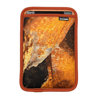 urban grunge rust orange twisted metal sleeve for iPad mini