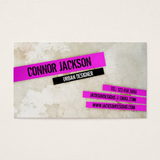 Urban Grunge with Highlights - Pink Business Card