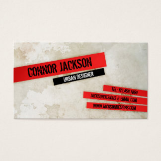 Urban Grunge with Highlights - Red Business Card