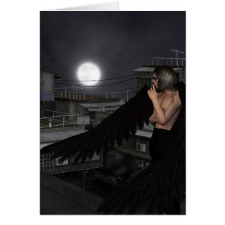 Urban Guardian Angel, Standing Greeting Card