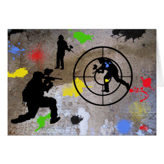 Urban Guerilla Paintball Greeting Card