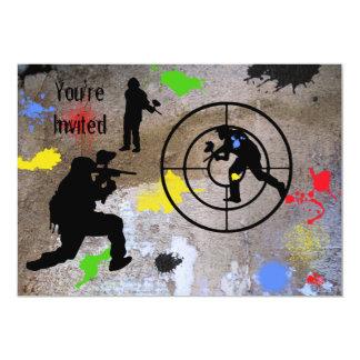 Urban Guerilla Paintball Invited Card