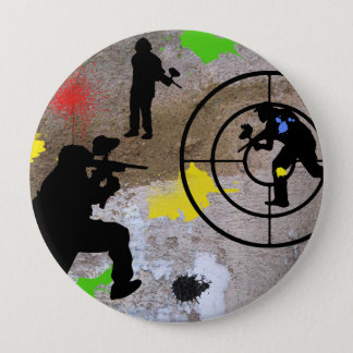 Urban Guerilla Paintball Pinback Button
