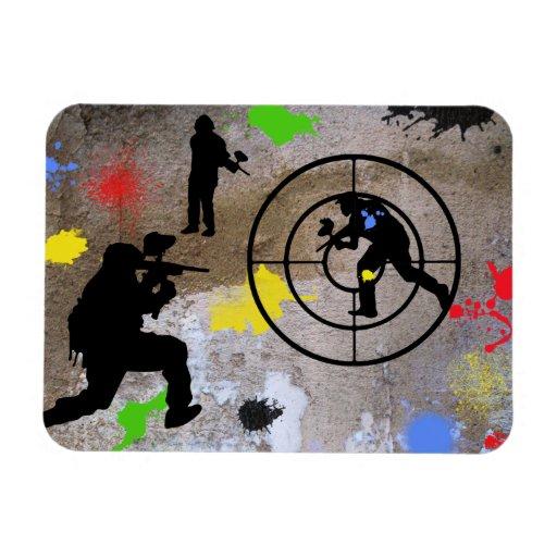 Urban Guerilla Paintball Rectangular Photo Magnet