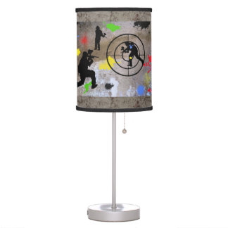 Urban Guerilla Paintball Table Lamps