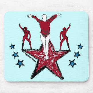 Urban Gymnastics Illustration Mousepad
