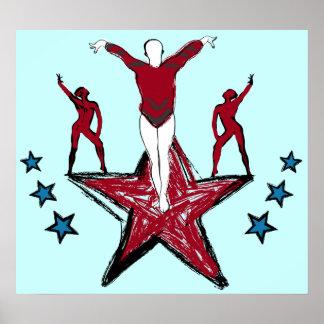 Urban Gymnastics Illustration Poster