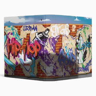 Urban Hip Hop Graffiti Wall. Binder