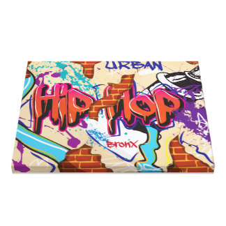 Urban Hip Hop Graffiti Wall. Canvas Print