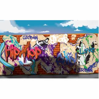 Urban Hip Hop Graffiti Wall. Statuette