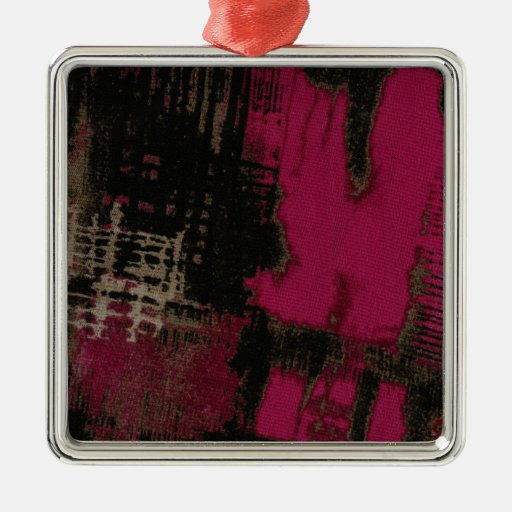Urban Hot Pink Christmas Tree Ornament