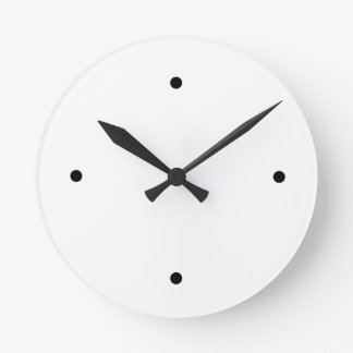 Urban Hottie Plain Jane White Wall Clock