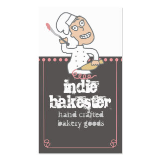 urban indie comic pastry chef baking frosting b... Double-Sided standard business cards (Pack of 100)
