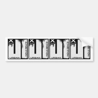 Urban Indulgence Stickers X4 Bumper Stickers