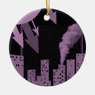 urban industrial ceramic ornament