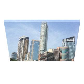 Urban Jungle Cityscape Kowloon Hong Kong Canvas Print